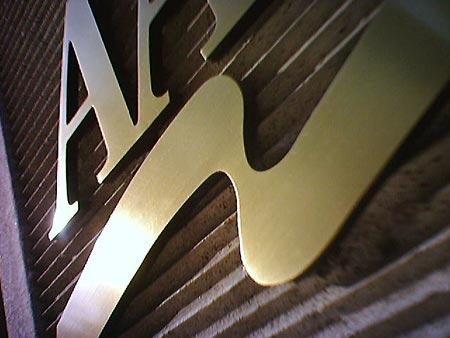 Brass AARP Sign